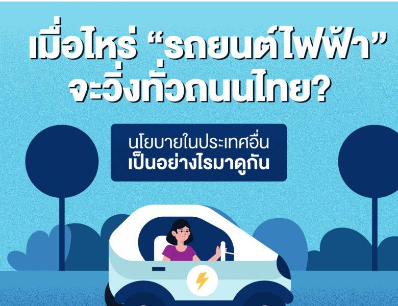 """นโยบาย""""รถยนต์ไฟฟ้า"""" ของไทยเปรียบเทียบกับต่างประเทศ"""