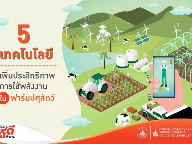 5 เทคโนโลยีเพิ่มประสิทธิภาพการใช้พลังงานในฟาร์มปศุสัตว์