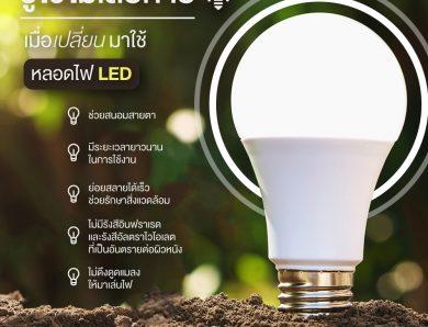 รู้ไว้ไม่เสียหาย เมื่อคุณเปลี่ยนมาใช้หลอด LED