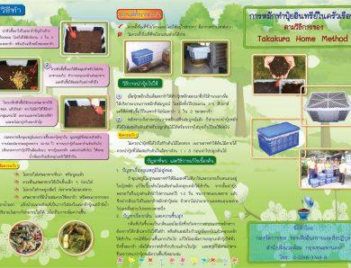 การจัดการกับเศษอาหารให้กลายเป็นปุ๋ยไว้ใช้ในบ้าน  (Takakura Method)