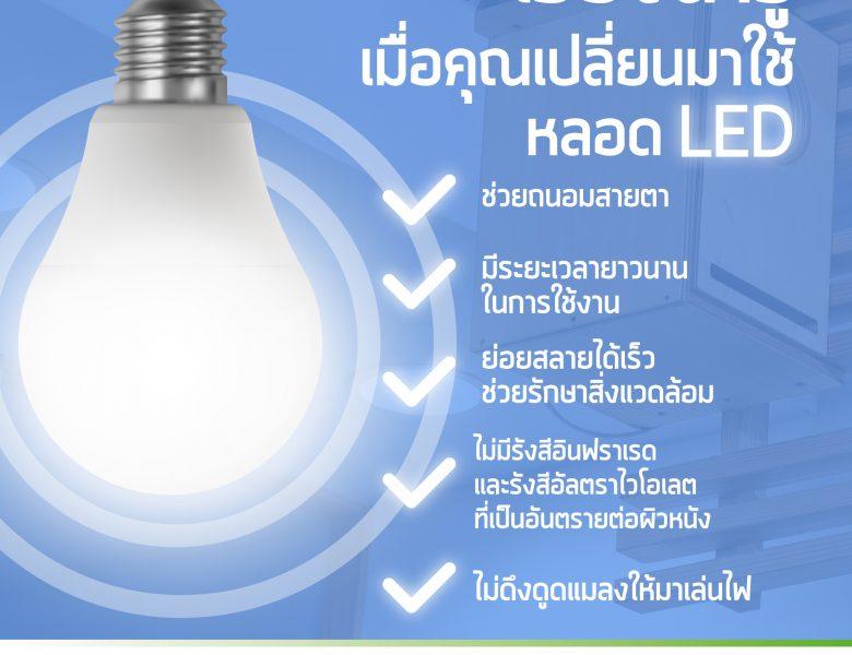 เรื่องน่ารู้ เมื่อคุณเปลี่ยนมาใช้หลอดไฟ LED