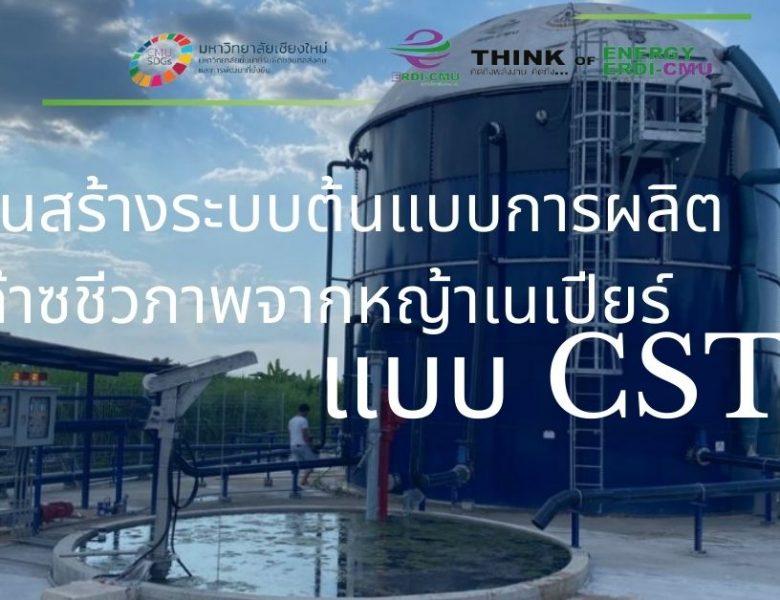 งานสร้างระบบต้นแบบการผลิตก๊าซชีวภาพจากหญ้าเนเปียร์ แบบ CSTR